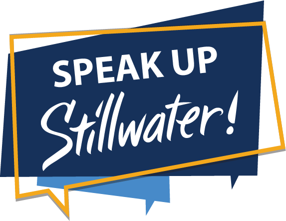 Speak up Stillwater logo
