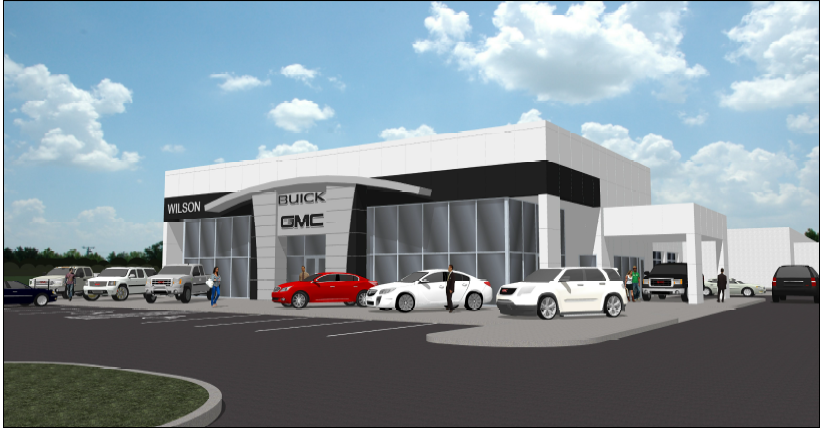 Rendered image of the Wilson Buick GMC Dealership