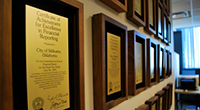 Photo of displayed awards