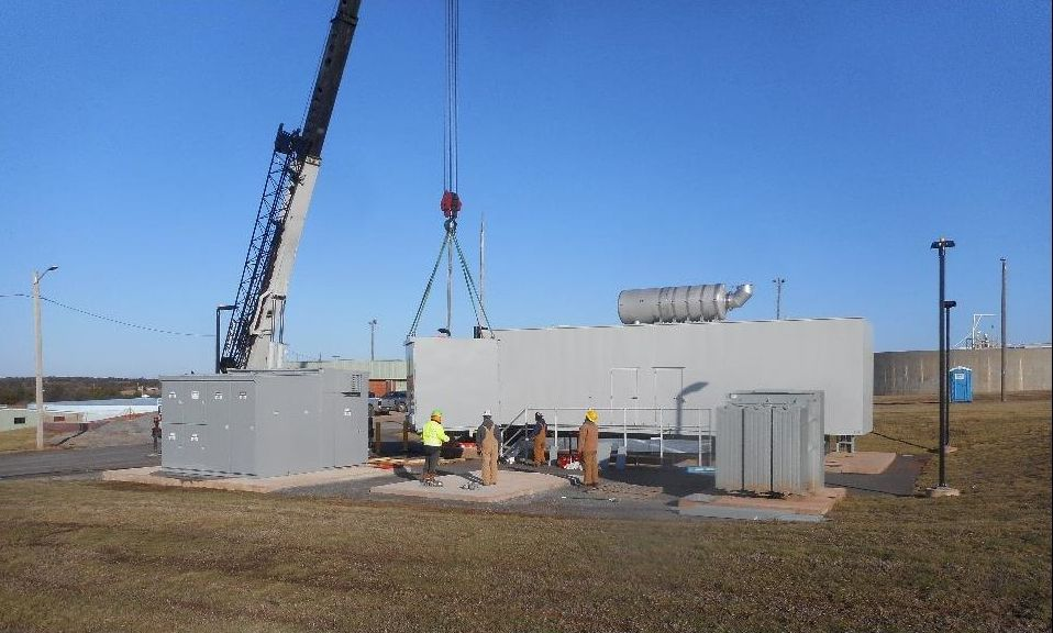 Generators being placed on the pads